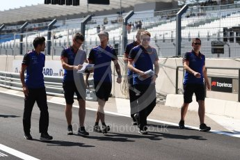 World © Octane Photographic Ltd. Formula 1 – French GP - Pit Lane. Scuderia Toro Rosso STR13 – Brendon Hartley. Circuit Paul Ricard, Le Castellet, France. Thursday 21st June 2018.