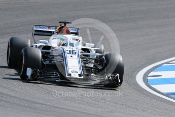 World © Octane Photographic Ltd. Formula 1 – German GP - Practice 1. Alfa Romeo Sauber F1 Team C37 – Antonio Giovinazzi. Hockenheimring, Baden-Wurttemberg, Germany. Friday 20th July 2018.