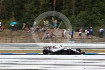 World © Octane Photographic Ltd. Formula 1 – German GP - Practice 1. Williams Martini Racing FW41 – Sergey Sirotkin. Hockenheimring, Baden-Wurttemberg, Germany. Friday 20th July 2018.