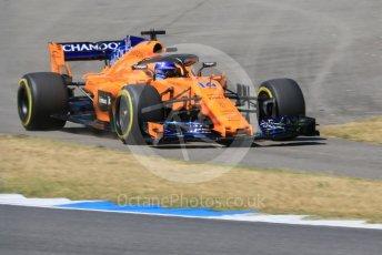 World © Octane Photographic Ltd. Formula 1 – German GP - Practice 2. McLaren MCL33 – Fernando Alonso. Hockenheimring, Baden-Wurttemberg, Germany. Friday 20th July 2018.