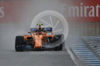 World © Octane Photographic Ltd. Formula 1 – German GP - Practice 3. McLaren MCL33 – Stoffel Vandoorne. Hockenheimring, Baden-Wurttemberg, Germany. Saturday 21st July 2018.