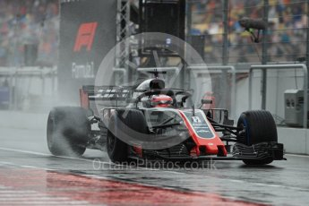 World © Octane Photographic Ltd. Formula 1 – German GP - Practice 3. Haas F1 Team VF-18 – Romain Grosjean. Hockenheimring, Baden-Wurttemberg, Germany. Saturday 21st July 2018.