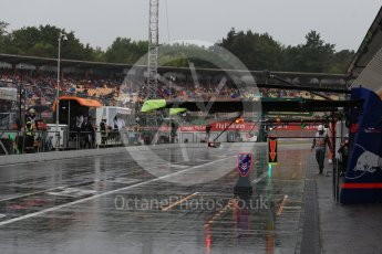 World © Octane Photographic Ltd. Formula 1 – German GP - Practice 3. Wet pit lane. Hockenheimring, Baden-Wurttemberg, Germany. Saturday 21st July 2018.