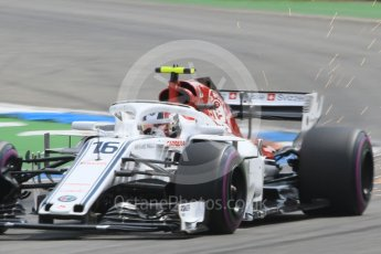 World © Octane Photographic Ltd. Formula 1 – German GP - Qualifying. Alfa Romeo Sauber F1 Team C37 – Charles Leclerc. Hockenheimring, Baden-Wurttemberg, Germany. Saturday 21st July 2018.