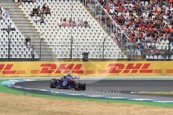 World © Octane Photographic Ltd. Formula 1 – German GP - Qualifying. Scuderia Toro Rosso STR13 – Pierre Gasly. Hockenheimring, Baden-Wurttemberg, Germany. Saturday 21st July 2018.