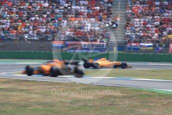 World © Octane Photographic Ltd. Formula 1 – German GP - Race. McLaren MCL33 – Stoffel Vandoorne and Fernando Alonso. Hockenheimring, Baden-Wurttemberg, Germany. Sunday 22nd July 2018.