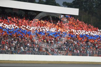 World © Octane Photographic Ltd. Formula 1 – German GP - Race. Dutch flag made up of fan held cards. Hockenheimring, Baden-Wurttemberg, Germany. Sunday 22nd July 2018.