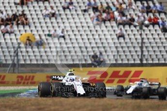 World © Octane Photographic Ltd. Formula 1 – German GP - Race. Williams Martini Racing FW41 – Sergey Sirotkin and Lance Stroll. Hockenheimring, Baden-Wurttemberg, Germany. Sunday 22nd July 2018.