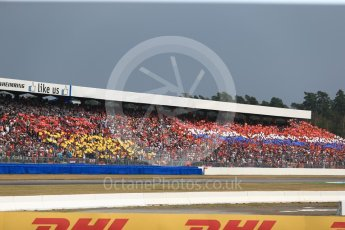World © Octane Photographic Ltd. Formula 1 – German GP - Race. German and Dutch flags made up of fan held cards. Hockenheimring, Baden-Wurttemberg, Germany. Sunday 22nd July 2018.