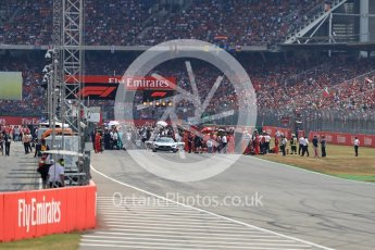 World © Octane Photographic Ltd. Formula 1 – German GP - Race. The grid preparations. Hockenheimring, Baden-Wurttemberg, Germany. Sunday 22nd July 2018.
