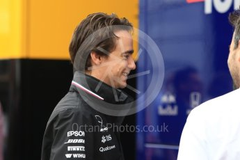 World © Octane Photographic Ltd. Formula 1 – German GP - Paddock. Mercedes AMG Petronas Motorsport Developement driver - Esteban Gutierrez. Hockenheimring, Baden-Wurttemberg, Germany. Sunday 22nd July 2018.