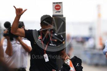 World © Octane Photographic Ltd. Formula 1 – German GP - Paddock. Aston Martin Red Bull Racing TAG Heuer RB14 – Daniel Ricciardo. Hockenheimring, Baden-Wurttemberg, Germany. Sunday 22nd July 2018.