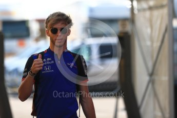 World © Octane Photographic Ltd. Formula 1 – German GP - Paddock. Scuderia Toro Rosso STR13 – Pierre Gasly. Hockenheimring, Baden-Wurttemberg, Germany. Friday 20th July 2018.