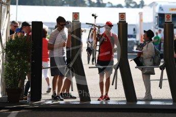 World © Octane Photographic Ltd. Formula 1 – German GP - Paddock. Scuderia Ferrari SF71-H – Sebastian Vettel. Hockenheimring, Baden-Wurttemberg, Germany. Friday 20th July 2018.