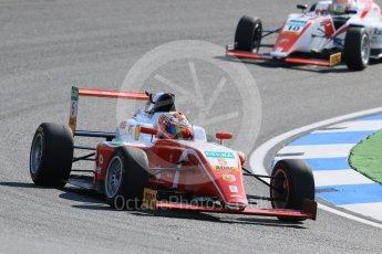 World © Octane Photographic Ltd. ADAC Formula 4 (F4). Prema Theodore Racing - Gianluca Petecof and KIC Driving Academy - Konsta Lappalainen. Hockenheimring Practice, Baden-Wurttemberg, Germany. Thursday 19th July 2018.