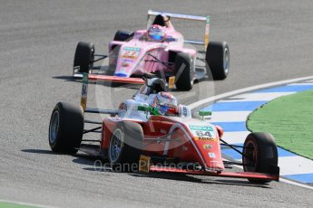 World © Octane Photographic Ltd. ADAC Formula 4 (F4). Prema Theodore Racing - Oliver Caldwell and US Racing - CHRS - David Schumacher. Hockenheimring Practice, Baden-Wurttemberg, Germany. Thursday 19th July 2018.