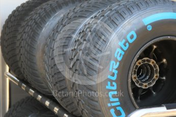 World © Octane Photographic Ltd. Formula 1 – German GP - Pitlane. Pirelli wet tyres. Hockenheimring, Baden-Wurttemberg, Germany. Thursday 19th July 2018.
