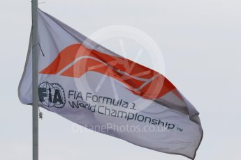 World © Octane Photographic Ltd. Formula 1 - German GP - Paddock. F1 Flag. Hockenheimring, Baden-Wurttemberg, Germany. Saturday 21st July 2018.