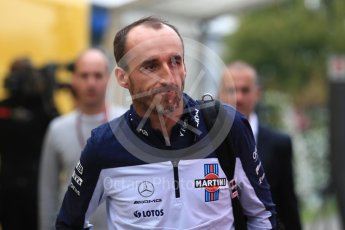 World © Octane Photographic Ltd. Formula 1 – German GP - Paddock. Williams Martini Racing FW41 – Robert Kubica. Hockenheimring, Baden-Wurttemberg, Germany. Saturday 21st July 2018.