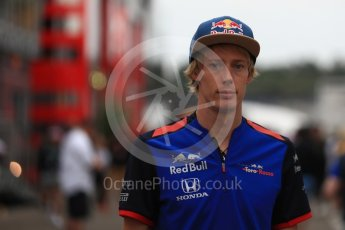 World © Octane Photographic Ltd. Formula 1 – German GP - Paddock. Scuderia Toro Rosso STR13 – Brendon Hartley. Hockenheimring, Baden-Wurttemberg, Germany. Saturday 21st July 2018.