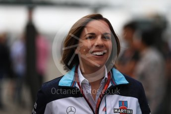 World © Octane Photographic Ltd. Formula 1 - German GP - Paddock. Claire Williams - Deputy Team Principal of Williams Martini Racing. Hockenheimring, Baden-Wurttemberg, Germany. Saturday 21st July 2018.