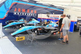World © Octane Photographic Ltd. ADAC Formula 4 (F4). Jenzer Motorsport. Hockenheimring Paddock, Baden-Wurttemberg, Germany. Thursday 19th July 2018.