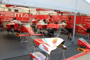 World © Octane Photographic Ltd. ADAC Formula 4 (F4). Prema Theodore Racing. Hockenheimring Paddock, Baden-Wurttemberg, Germany. Thursday 19th July 2018.
