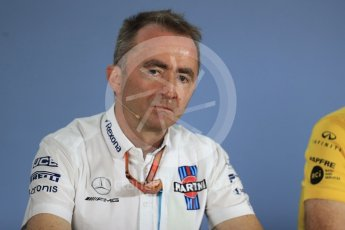 World © Octane Photographic Ltd. Formula 1 - British GP - Friday FIA Team Press Conference. Paddy Lowe - Chief Technical Officer at Williams Martini Racing. Hockenheimring, Baden-Wurttemberg, Germany. Thursday 19th July 2018.