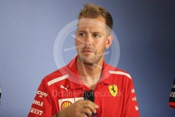 World © Octane Photographic Ltd. Formula 1 – German GP - FIA Drivers' Press Conference. Scuderia Ferrari SF71-H – Sebastian Vettel. Hockenheimring, Baden-Wurttemberg, Germany. Thursday 19th July 2018.