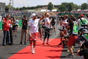 World © Octane Photographic Ltd. Formula 1 – Hungarian GP - Drivers' Parade. Mercedes AMG Petronas Motorsport AMG F1 W09 EQ Power+ - Lewis Hamilton. Hungaroring, Budapest, Hungary. Sunday 29th July 2018.