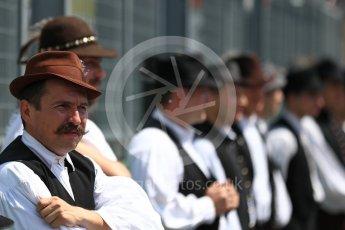 World © Octane Photographic Ltd. Formula 1 – Hungarian GP - Drivers' Parade. Hungarian traditional dancers. Hungaroring, Budapest, Hungary. Sunday 29th July 2018.