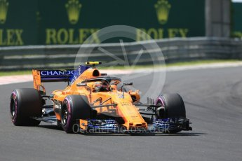 World © Octane Photographic Ltd. Formula 1 – Hungarian GP - Green flag lap. McLaren MCL33 – Stoffel Vandoorne. Hungaroring, Budapest, Hungary. Sunday 29th July 2018.