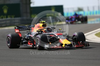 World © Octane Photographic Ltd. Formula 1 – Hungarian GP - Race. Aston Martin Red Bull Racing TAG Heuer RB14 – Max Verstappen. Hungaroring, Budapest, Hungary. Sunday 29th July 2018.