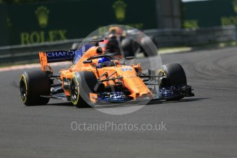 World © Octane Photographic Ltd. Formula 1 – Hungarian GP - Race. McLaren MCL33 – Fernando Alonso. Hungaroring, Budapest, Hungary. Sunday 29th July 2018.