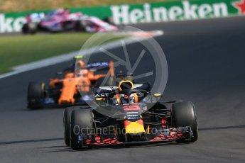 World © Octane Photographic Ltd. Formula 1 – Hungarian GP - Race. Aston Martin Red Bull Racing TAG Heuer RB14 – Daniel Ricciardo. Hungaroring, Budapest, Hungary. Sunday 29th July 2018.