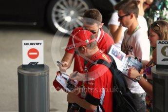 World © Octane Photographic Ltd. Formula 1 – Hungarian GP - Paddock. Scuderia Ferrari – Kimi Raikkonen. Hungaroring, Budapest, Hungary. Friday 27th July 2018.