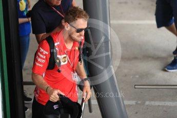 World © Octane Photographic Ltd. Formula 1 – Hungarian GP - Paddock. Scuderia Ferrari – Sebastian Vettel. Hungaroring, Budapest, Hungary. Friday 27th July 2018.