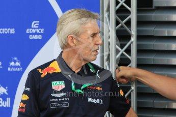 World © Octane Photographic Ltd. Formula 1 – Hungarian GP - Paddock. Aston Martin Red Bull Racing – Charlie. Hungaroring, Budapest, Hungary. Saturday 28th July 2018.