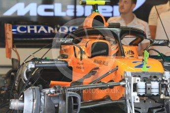 World © Octane Photographic Ltd. Formula 1 – Hungarian GP - Morning setup. McLaren MCL33. Hungaroring, Budapest, Hungary. Saturday 28th July 2018.