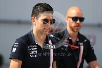 World © Octane Photographic Ltd. Formula 1 – Hungarian GP - Paddock. Sahara Force India VJM11 - Esteban Ocon. Hungaroring, Budapest, Hungary. Saturday 28th July 2018.