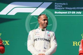 World © Octane Photographic Ltd. Formula 1 – Hungarian GP - Podium. Mercedes AMG Petronas Motorsport AMG F1 W09 EQ Power+ - Lewis Hamilton. Hungaroring, Budapest, Hungary. Sunday 29th July 2018.
