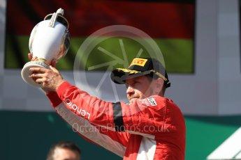World © Octane Photographic Ltd. Formula 1 – Hungarian GP - Podium. Scuderia Ferrari SF71-H – Sebastian Vettel. Hungaroring, Budapest, Hungary. Sunday 29th July 2018.