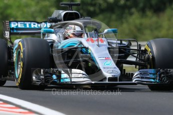 World © Octane Photographic Ltd. Formula 1 – Hungarian GP - Practice 1. Mercedes AMG Petronas Motorsport AMG F1 W09 EQ Power+ - Lewis Hamilton. Hungaroring, Budapest, Hungary. Friday 27th July 2018.