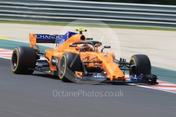 World © Octane Photographic Ltd. Formula 1 – Hungarian GP - Practice 1. McLaren MCL33 – Stoffel Vandoorne. Hungaroring, Budapest, Hungary. Friday 27th July 2018.
