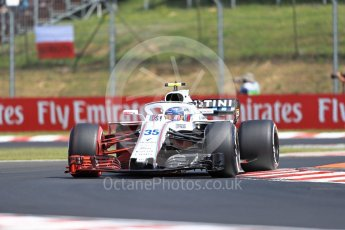 World © Octane Photographic Ltd. Formula 1 – Hungarian GP - Practice 1. Williams Martini Racing FW41 – Sergey Sirotkin. Hungaroring, Budapest, Hungary. Friday 27th July 2018.
