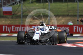 World © Octane Photographic Ltd. Formula 1 – Hungarian GP - Practice 1. Williams Martini Racing FW41 – Lance Stroll. Hungaroring, Budapest, Hungary. Friday 27th July 2018.