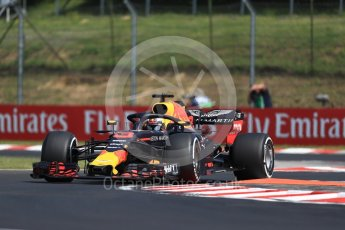 World © Octane Photographic Ltd. Formula 1 – Hungarian GP - Practice 1. Aston Martin Red Bull Racing TAG Heuer RB14 – Daniel Ricciardo. Hungaroring, Budapest, Hungary. Friday 27th July 2018.