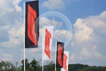 World © Octane Photographic Ltd. Formula 1 – Hungarian GP - Practice 2. Formula 1 flags. Hungaroring, Budapest, Hungary. Friday 27th July 2018.