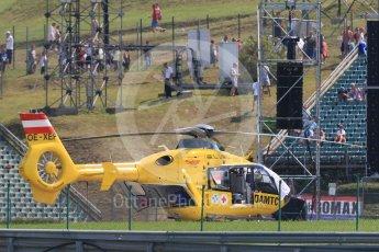 World © Octane Photographic Ltd. Formula 1 – Hungarian GP - Practice 2. Medical helicopter. Hungaroring, Budapest, Hungary. Friday 27th July 2018.