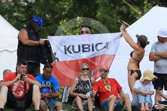 World © Octane Photographic Ltd. Formula 1 – Hungarian GP - Practice 2. Forza Robert flags. Hungaroring, Budapest, Hungary. Friday 27th July 2018.
